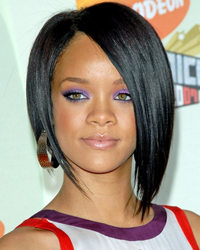 asymmetrical bob hairstyles with bangs