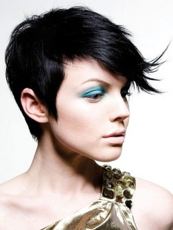 black pixie hairstyle