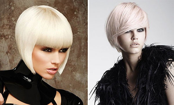 blonde A line bob hairstyles 2014