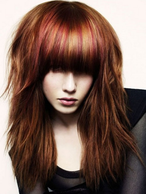 brown hair with red - photo #14