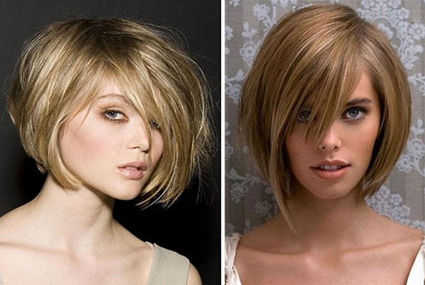 messy A line bob hairstyles