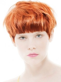 orange cropped short hairstyles