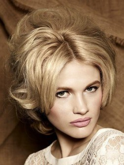 vintage party hairstyle 2014