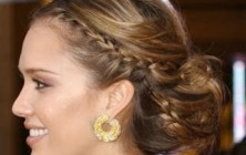 wedding braided updo