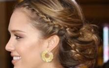 wedding braided updo