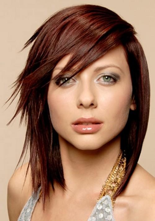 brown shag hairstyles