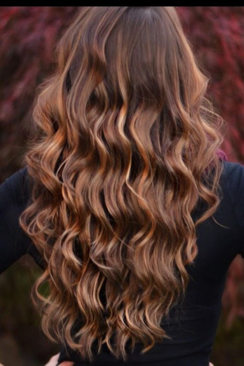 ... hair color with caramel highlights can be considered the best choice