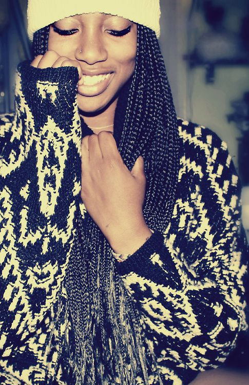 cute box braids