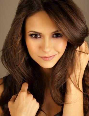 Nina Dobrev chocolate brown hair