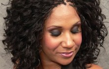 micro braids on medium curly hair