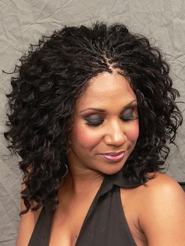 micro braids on medium curly hair