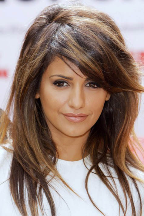 Cool Hairstyle 2014 Chocolate Brown Hair Color With Caramel Highlights