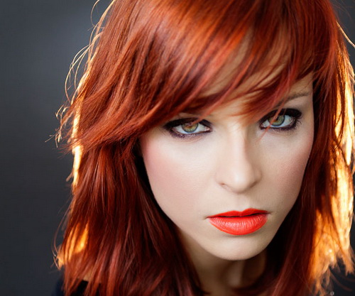red shag hairstyle