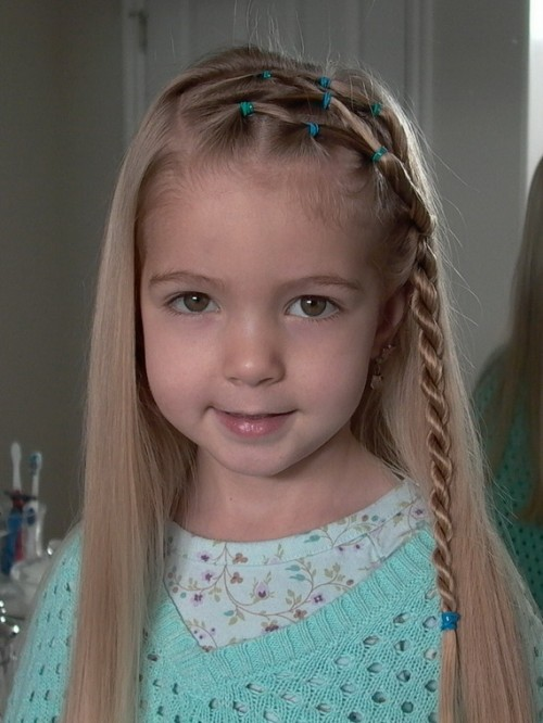straight hairstyles for little girls