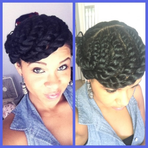 twisty updo for black women 2014