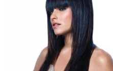 Long Straight Hairstyles with bangs 2014