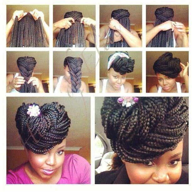 big box braids updo hairstyles 2014