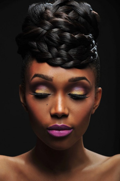 Striking Black Wedding Hairstyles 2014