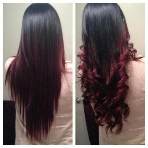 black to burgundy ombre hair solutions 2014