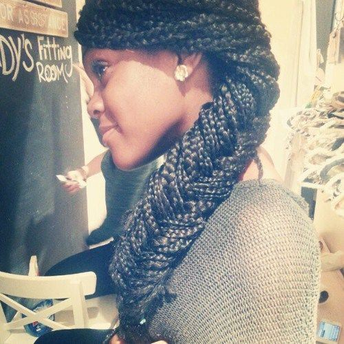 braid from small box braids hairstyles