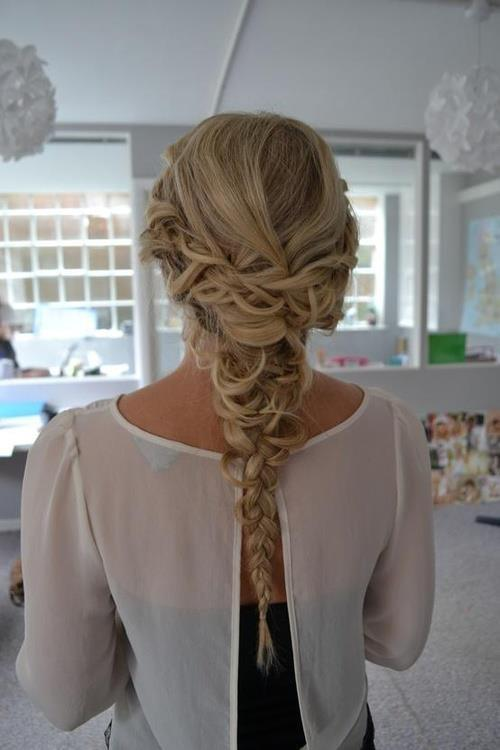 fancy braided homecoming hairstyles 2014