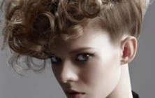 long curly mohawk hairstyle