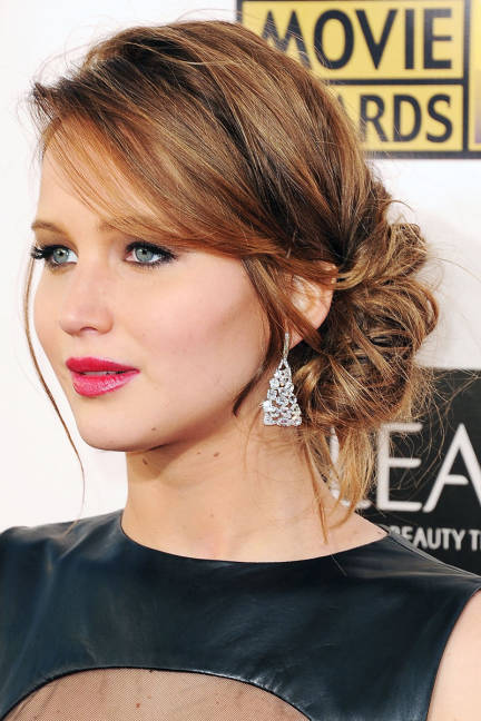 low side bun hairstyles 2014
