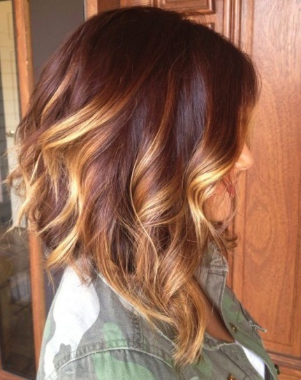 Auburn Red Hair Ombre Ombre hair colors
