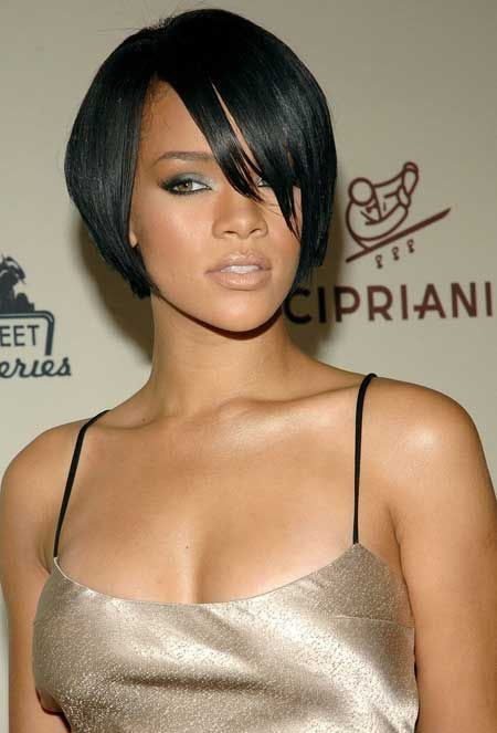 rihanna tapered bob short hairstyles