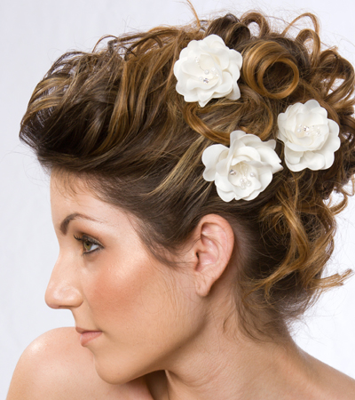 short curly updo haristyles for wedding