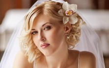 short curly wedding hairstyles 2014