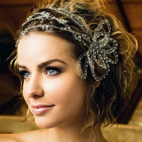 short wavy hair wedding hairstyles 2014