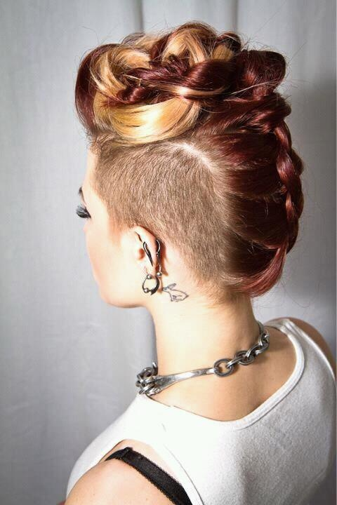 undercut braided mohawk hairstyle