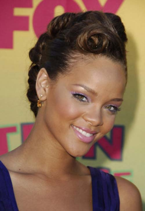 updo mohawk hairstyles 2014