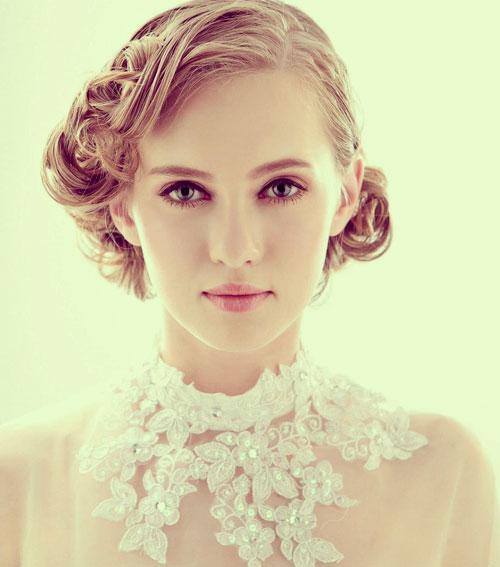 vintage short bridal hairtsyles 2014