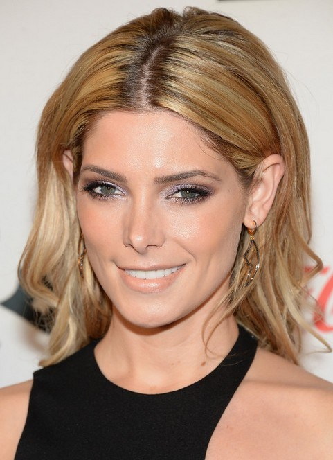 Ashley Greene wheat blonde hair color for summer 2015