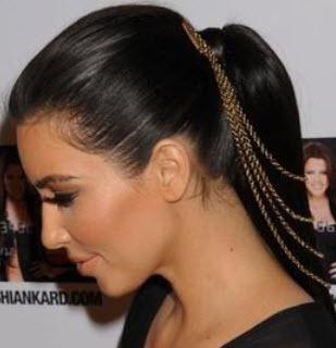 Kim Kardashian summer hair accessories 2014