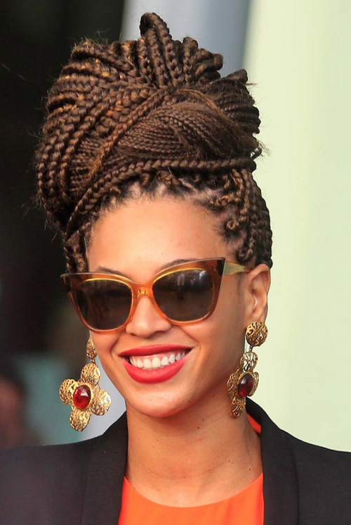 Dazzling box braids hairstyles you can do yourself hairstyles 2017 beyonce gorgeous box braids bun beyonce box braids bun solutioingenieria Images