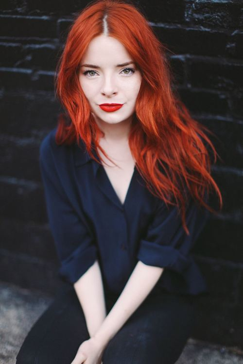 bold tangerine copper hair color 2014