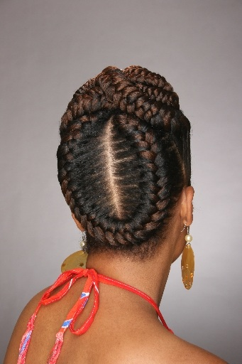 Updo Cornrow Braids Hairstyles Black Women