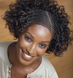 curls and braids hairstyles for black women 2014