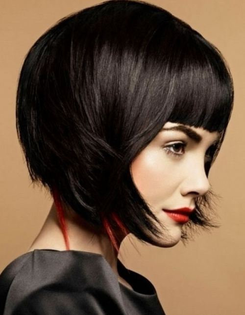 dramatic bob prom hairstyles for short hair