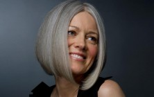easy bob hairstyles for grey hair