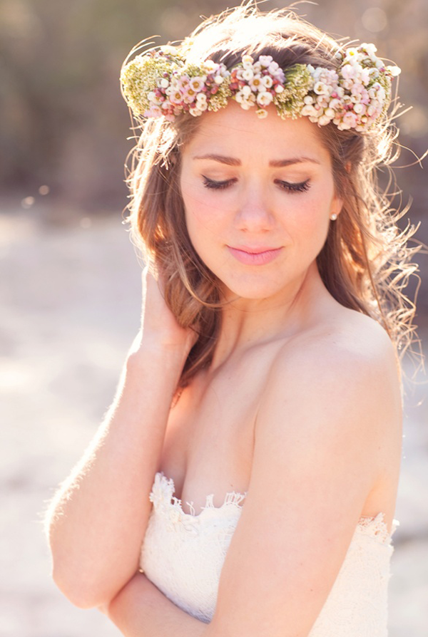 flower crown hair accessories for wedding hairstyles 2014
