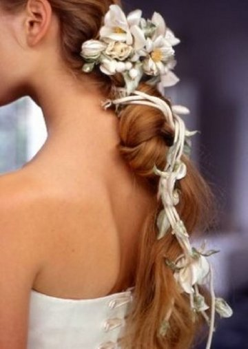 flower hair accessories for wedding hairstyles 2014