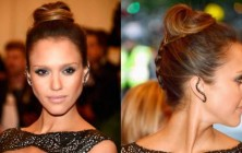 jessica alba braided updos for medium hair
