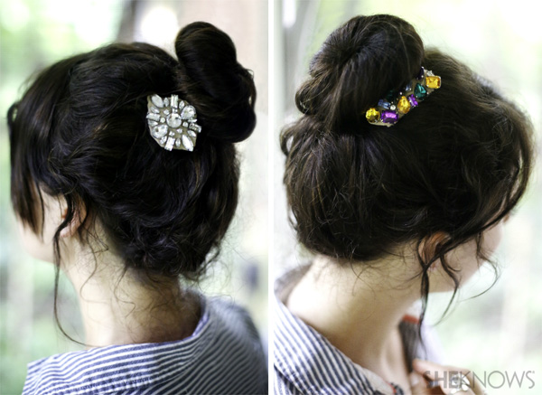 jewel hair clips 2014