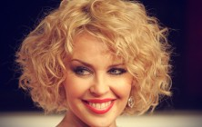 kylie minogue curly stacked bob