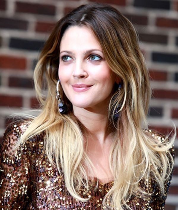 ombre long hairstyles for round faces