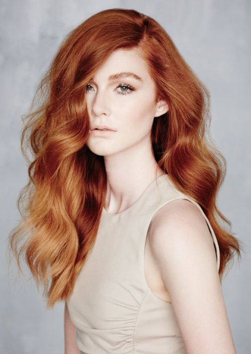 peachy-to-copper hair color 2014
